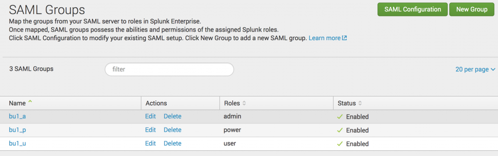Splunk SAML Groups